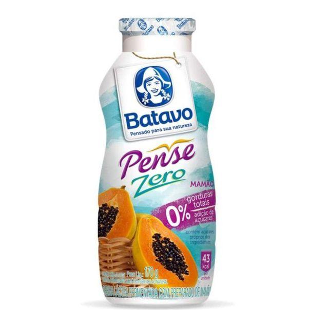 Bebida-lactea-fermentada-pense-zero-com-polpa-de-mamao-Batavo-170g