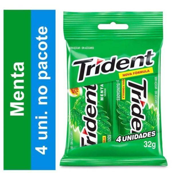 Chiclete-sabor-menta-Trident-com-4-unidades