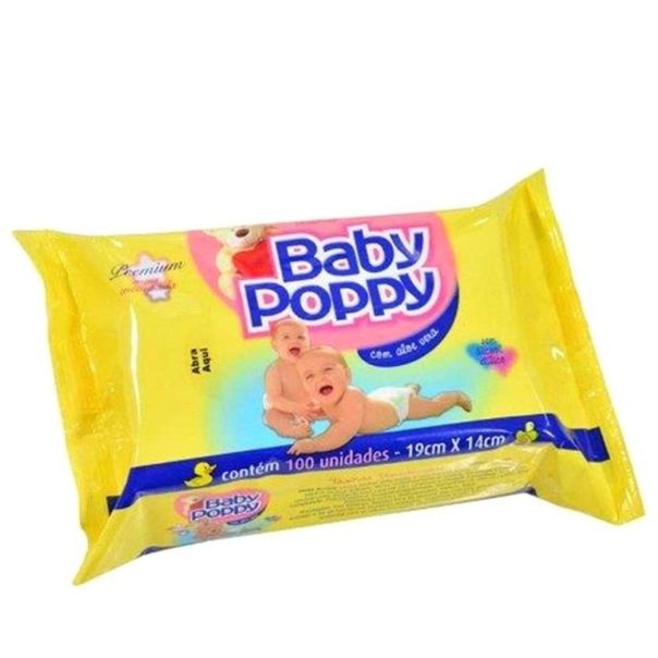 Lenco-toalha-umedecido-Baby-Poppy-com-100-unidades