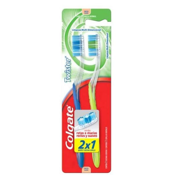 Escova-dental-twister-macia-leve-2-pague-1-unidade-Colgate