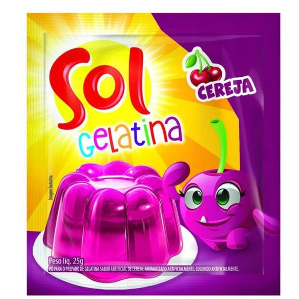 Gelatina-sabor-cereja-Sol-25g