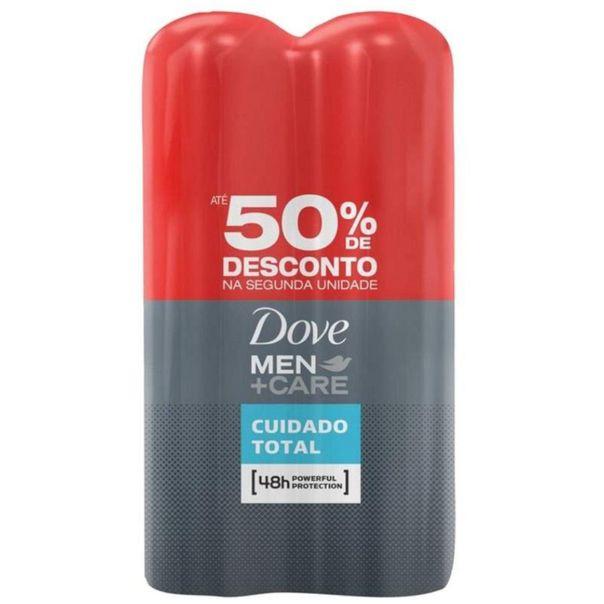 Kit-2-desodorantes-aerosol-men-cuidado-total-50--de-desconto-na-2º--unidade-Dove-150ml