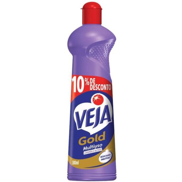Multiuso-gold-lavanda-e-alcool-10--de-desconto-Veja-500ml