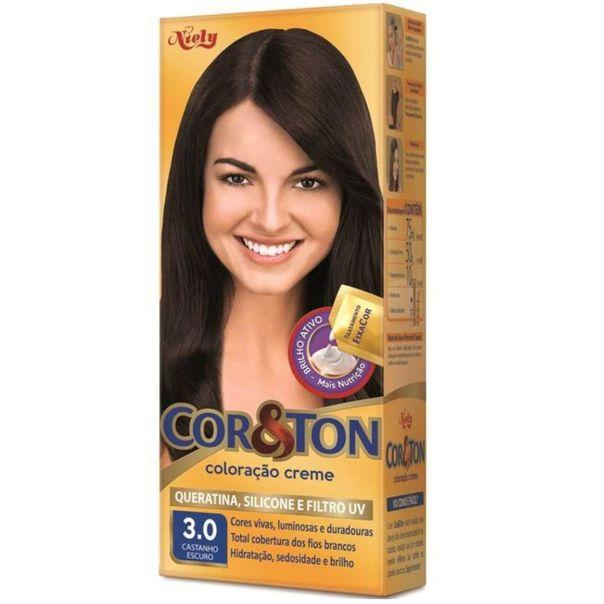 Tinta-permanente-para-cabelo-3.0-castanho-escuro-Cor---Ton-125g