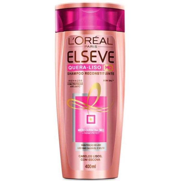 Shampoo-quera-liso-reconstituinte-sem-sal-cabelos-lisos-com-escova-Elseve-400ml