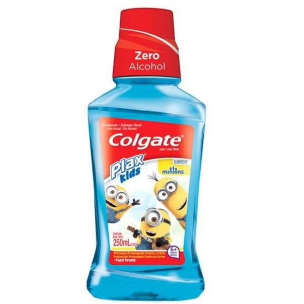 Enxaguante-bucal-infantil-plax-kids-minions-Colgate-250ml
