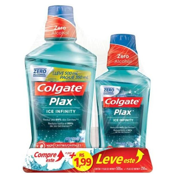 Enxaguatorio-bucal-plax-500ml-ice-infinity---199-leve-ice-infinity-pack-Colgate-250ml