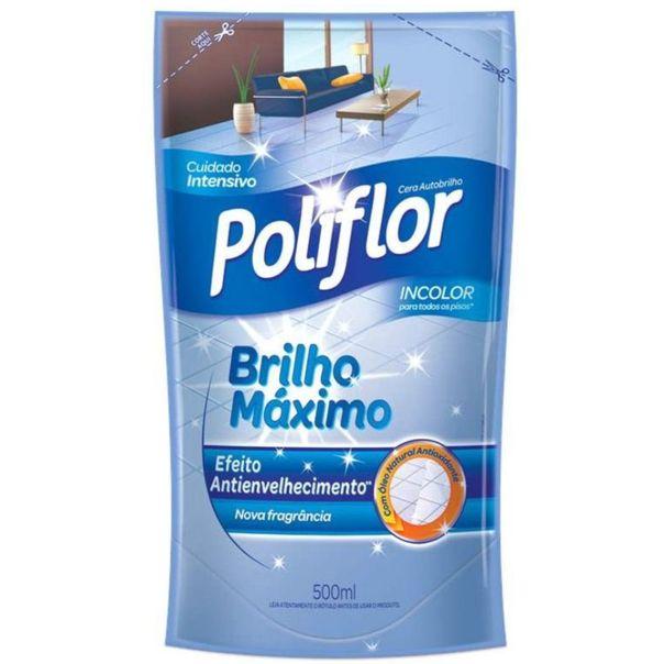 Cera-maximo-brilho-incolor-refil-Poliflor-500ml