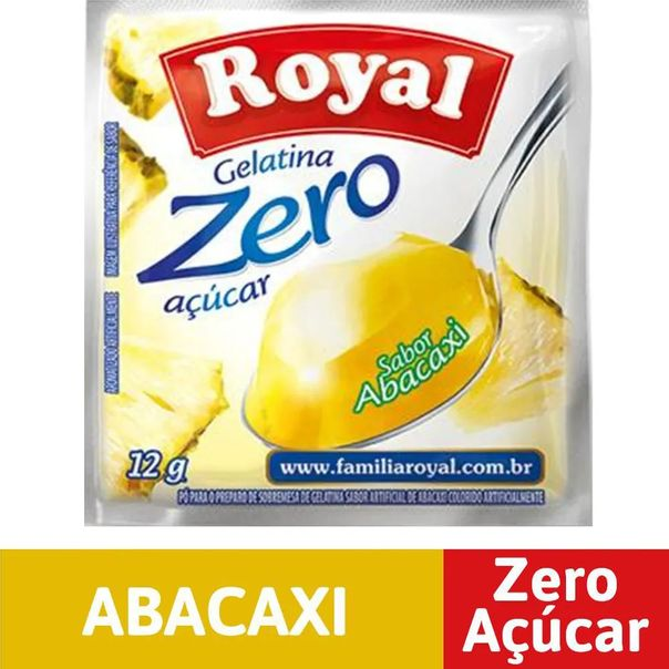 Gelatina-zero-acucar-sabor-abacaxi-Royal-12g