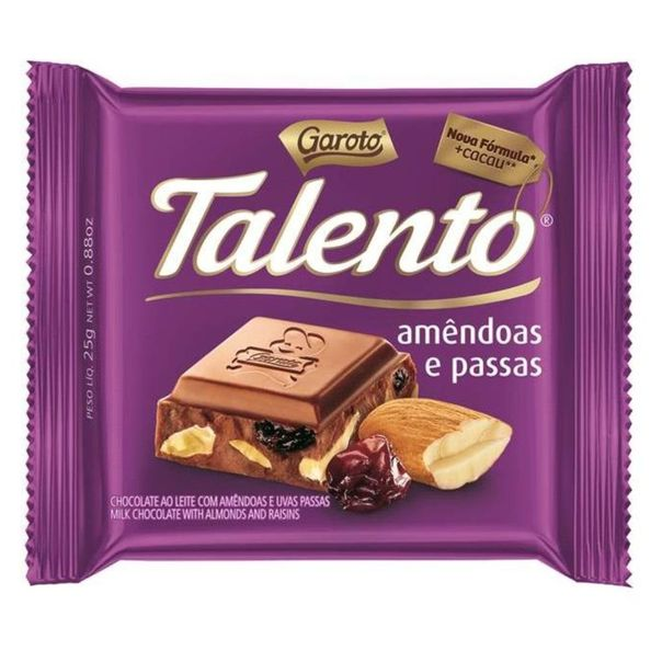Mini-tablete-de-chocolate-talento-ao-leite-amendoas-e-passas-Garoto-25g