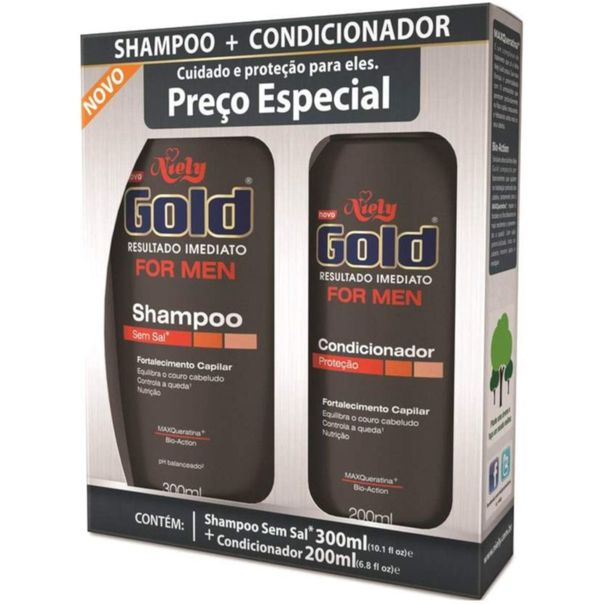 Kit-shampoo---condicionador-for-men-fortalecimento-capilar-Niely-Gold-500ml