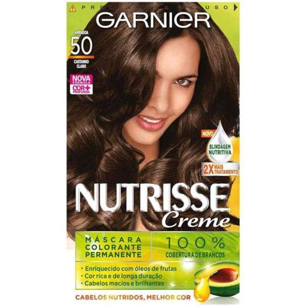 Tintura-para-cabelo-permanente-nutrisse-creme-kit-n°50-castanho-claro-Garnier