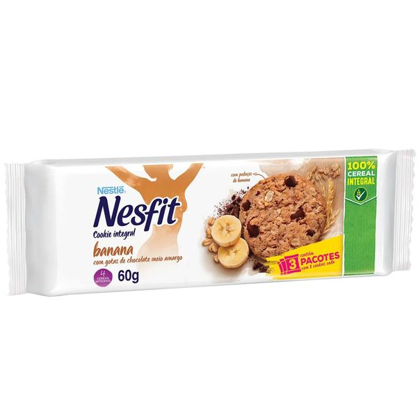Cookie-integral-sabor-banana-Nesfit-60g