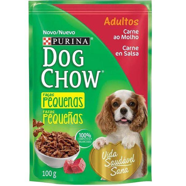 Racao-dog-chow-para-caes-adulto-racas-pequenas-sabor-carne-ao-moho-sache-Purina-100g