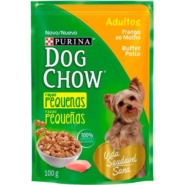 Racao-dog-chow-para-caes-adultos-racas-pequenas-sabor-frango-ao-molho-Purina-100g