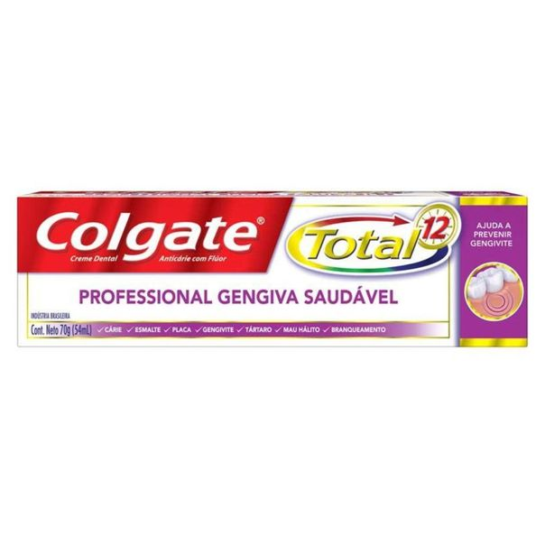 Creme-dental-total-12-profissional-gun-health-Colgate-70g