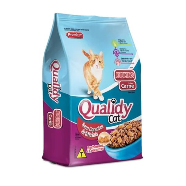 Racao-para-gatos-sabor-carne-Qualiday-1kg