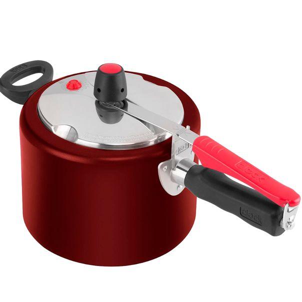 Panela-de-pressao-anti-aderente-vermelho-Clock-45-litros-