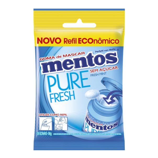 Goma-de-mascar-refil-pure-fresh-mint-bag-Mentos-56g