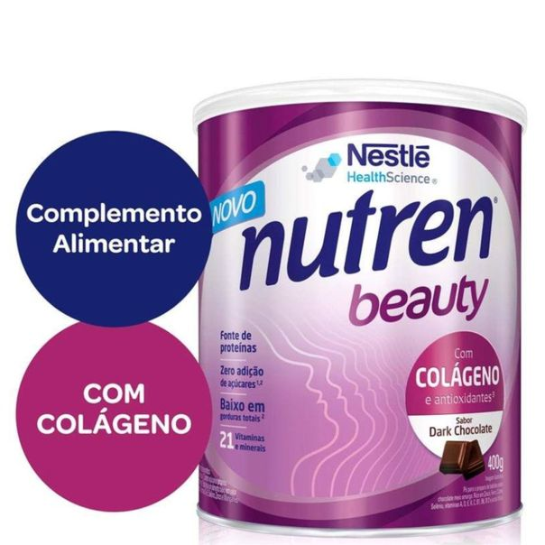Suplemento-alimentar-sabor-dark-chocolate-Nutren-Beauty-400g