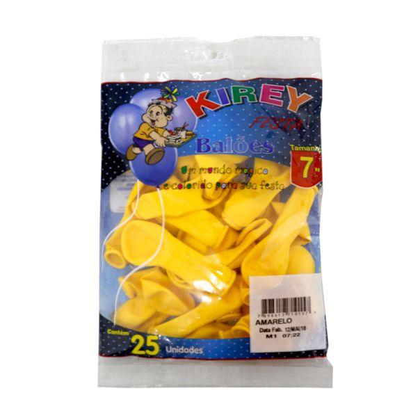 Balao-liso-nº7-amarelo-com-25-unidades-Kirey