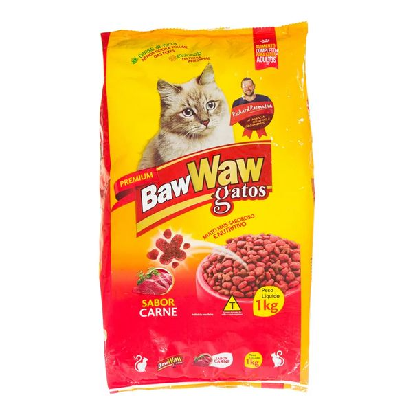 Racao-para-gatos-sabor-carne-Baw-Waw-1kg