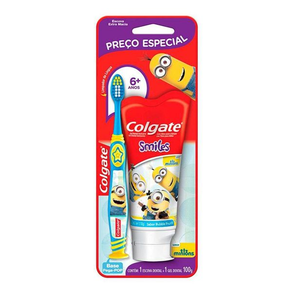 Kit-escova-dental-minions---creme-dental-minions-Colgate-100g