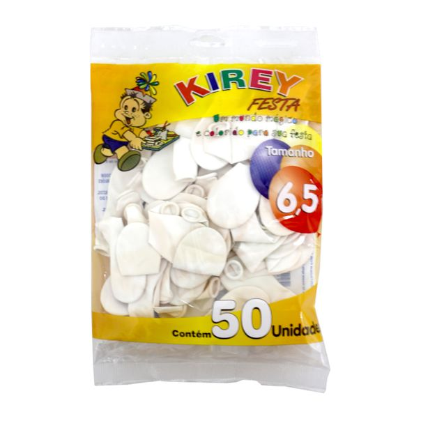 Balao-liso-nº6-branco-com-50-unidades-Kirey