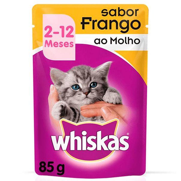 Racao-umida-para-gatos-filhotes-sabor-frango-ao-molho-sache-Whiskas-85g