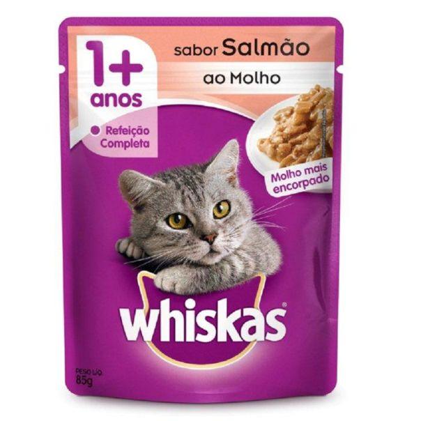 Racao-umida-para-gatos-adultos-sabor-salmao-ao-molho-sache-Whiskas-85g