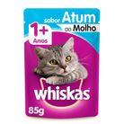 Racao-umida-para-gatos-adultos-sabor-atum-ao-molho-sache-Whiskas-85g