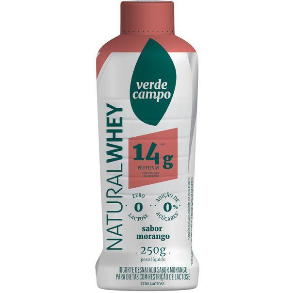 Iogurte-desnatado-natural-whey-sabor-morango-Verde-Campo-250g