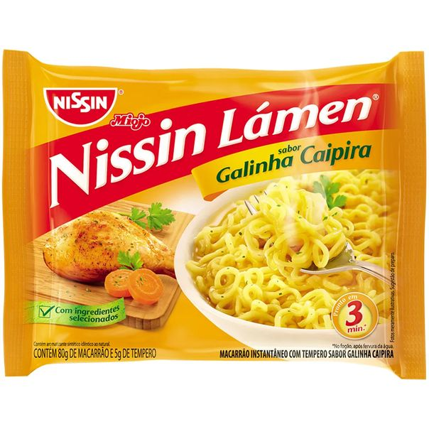 Macarrao-instantaneo-sabor-galinha-caipira-com-6-unidades-Nissin-Lamen-85g