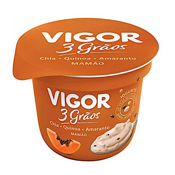 Iogurte-natural-sabor-mamao-3-graos-Vigor-100g