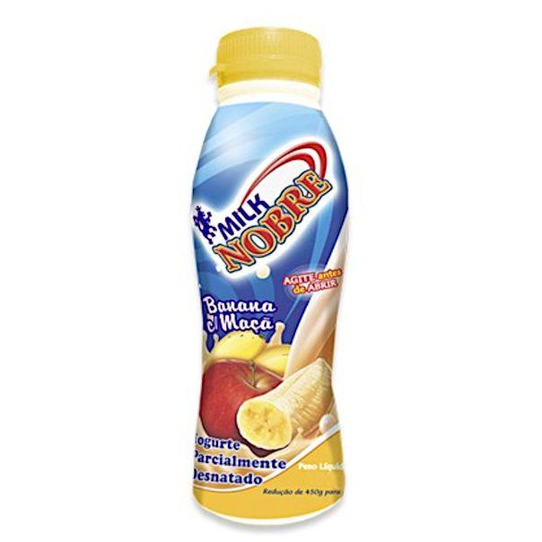 Iogurte-sabor-banana-e-maca-Milk-Nobre-800g
