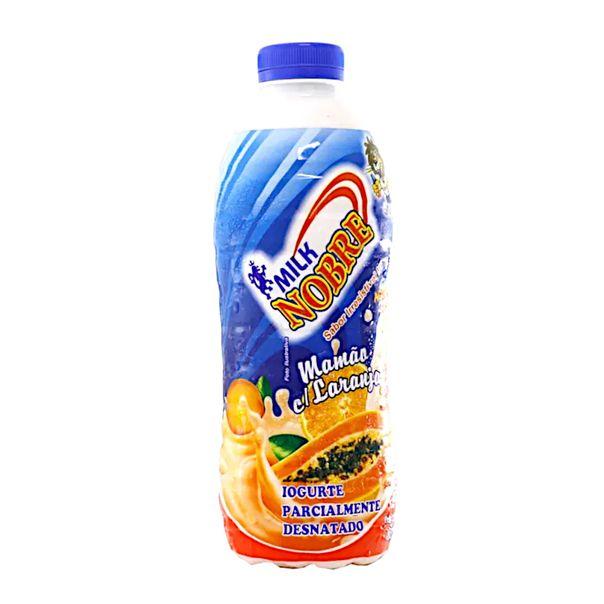 Iogurte-sabor-mamao-com-laranja-Milk-Nobre-800g