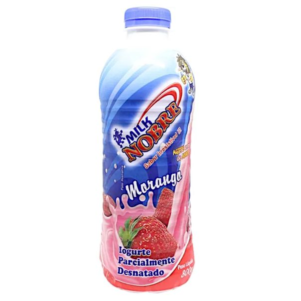 Iogurte-sabor-morango-Milk-Nobre-800g