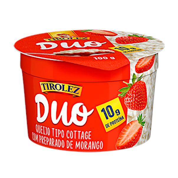 Queijo-cottage-duo-morango-Tirolez-100g