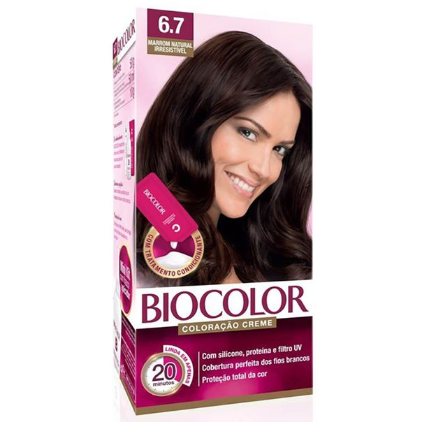 Tintura-permanente-kit-6.7-marron-natural-irresistivel-Biocolor
