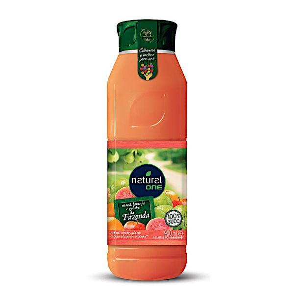Suco-sabor-laranja-maca-e-goiaba-Natural-One-900ml