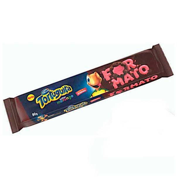 Biscoito-recheado-sabor-morango-formato-Tortuguita-90g