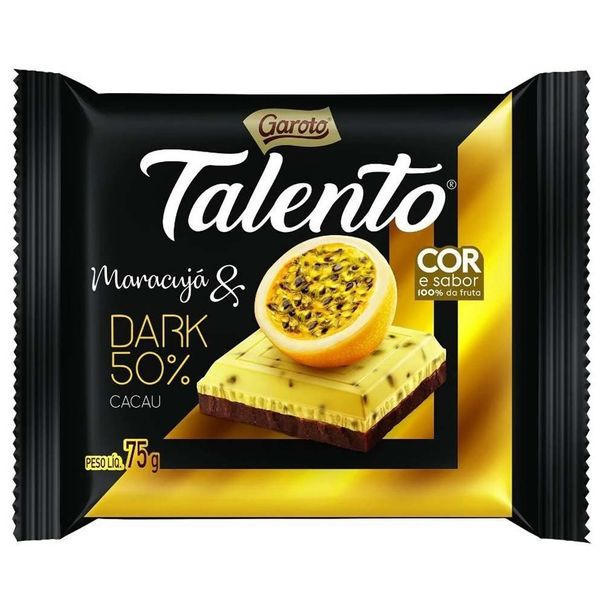 Tablete-de-chocolate-sabor-maracuja-dark-talento-Garoto-75g