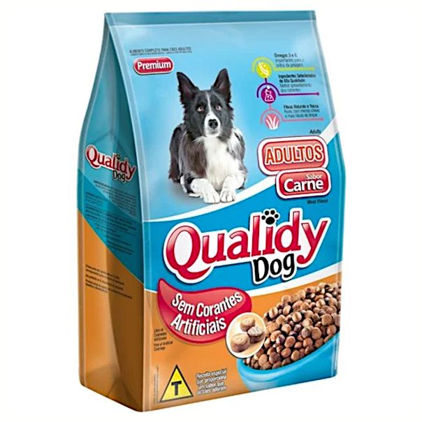 Racao-para-caes-adultos-sabor-carne-Qualidy-1kg