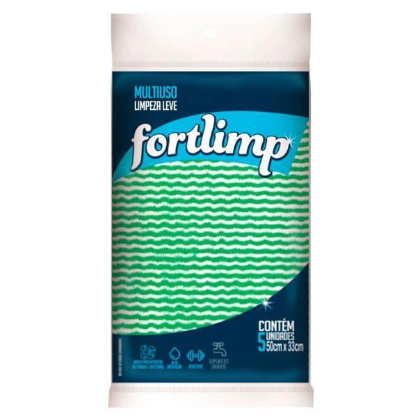 Pano-multiuso-verde-com-5-unidades-Fort-Limp