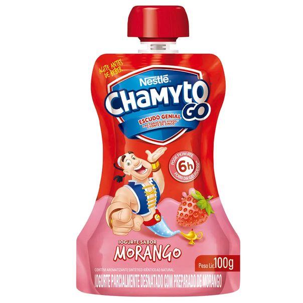 Iogurte-sabor-morango-pouch-Chamyto-100g