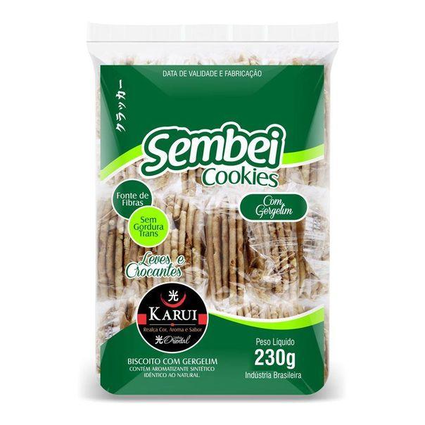 Biscoito-cookie-com-gergelim-karui-zero-gordura-Sembei-230g
