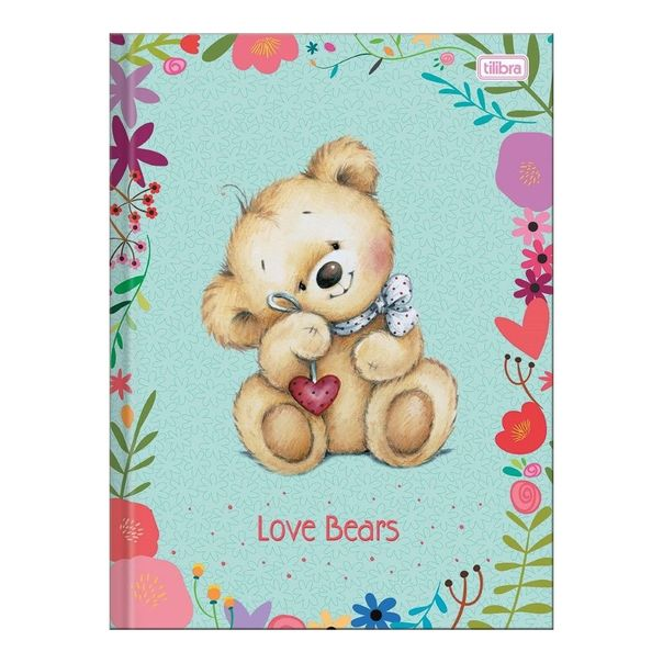 Caderno-de-brochura-capa-dura-top-universitario-love-bears-Tilibra