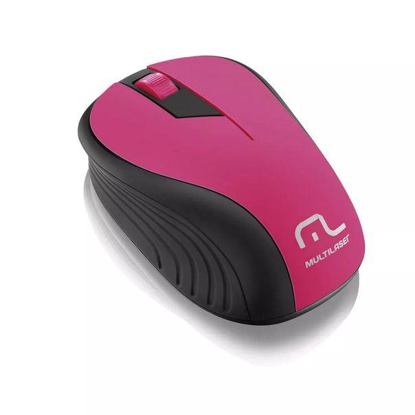 Mouse-sem-fio-preto-e-rosa-USB-Multilaser