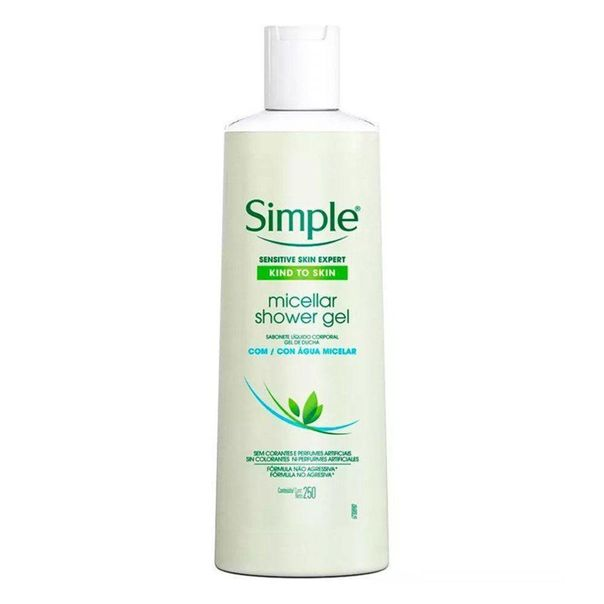 Sabonete-liquido-corporal-gel-agua-micelar-Simple-250ml