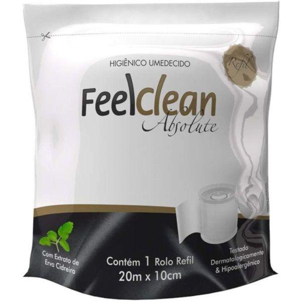 Papel-higienico-umedecido-Absolute-refil-Feelclean-20-Metros